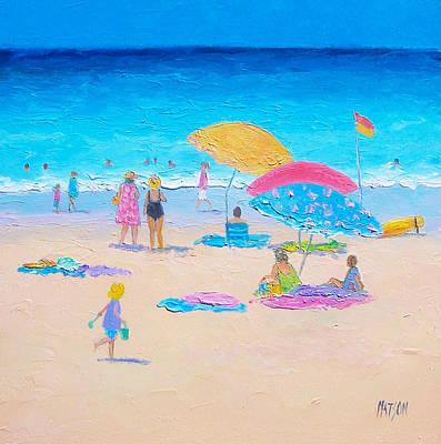 Beach Themed Art Painting - Beach Painting - Colors Of Summer  by Jan Matson