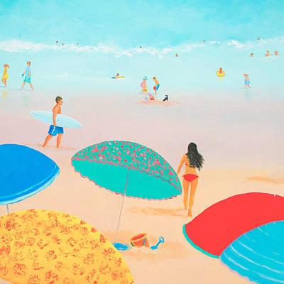 Beach Painting - Ocean Breeze Salty Hair Art Print