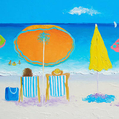 Painting - Beach Painting - Sun Filled Days by Jan Matson