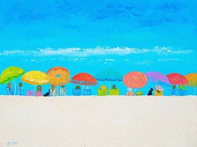Painting - Beach Painting - Those Lazy Days Of Summer by Jan Matson