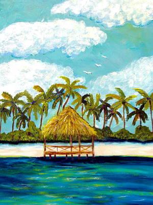 Yucatan Painting - Beach Palapa by Tonya Rosa Stephens