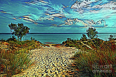 Photograph - Beach Path 19818 by Ray Shrewsberry