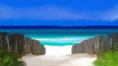 Mixed Media - Beach Path by Anthony Fishburne