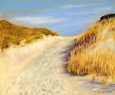 Pastel - Beach Path by Joan Swanson