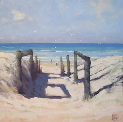 Wall Art - Painting - Beach Path by Mike Barr