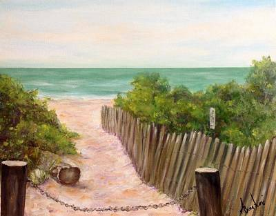 Painting - Beach Path Watch Hill Rhode Island by Anne Barberi