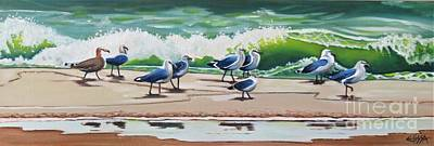 Painting - Beach Patrol by Elissa Anthony