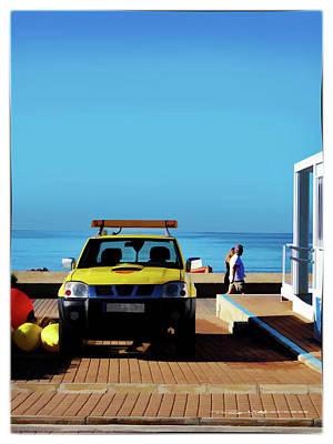 Digital Art - Beach Patrol by Roger Lighterness
