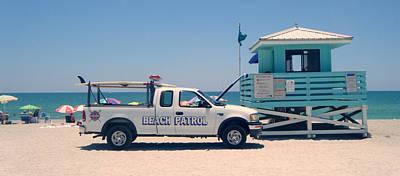 Beach Patrol Art Print by Steven Scott