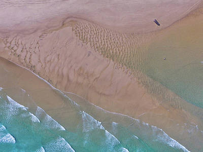 Beach Patterns At North Point On Moreton Island Art Print