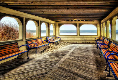 Photograph - Beach Pavilion In The Off Season 2 by Carolyn Derstine