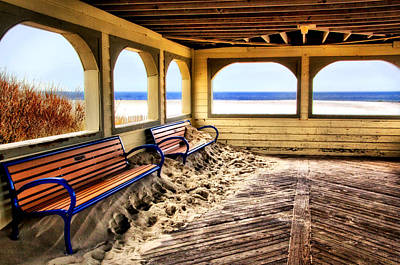 Photograph - Beach Pavilion In The Off-season by Carolyn Derstine