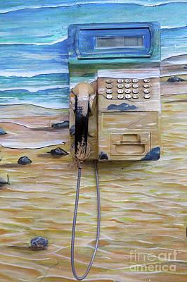 Photograph - Beach Phone by Teresa Zieba