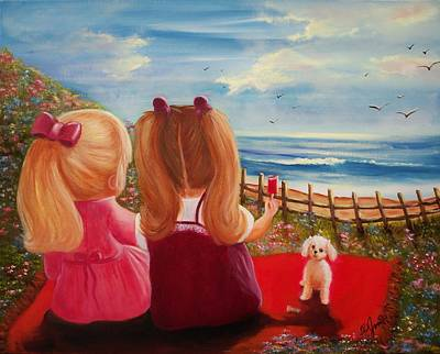 Painting - Beach Picnic by Joni McPherson