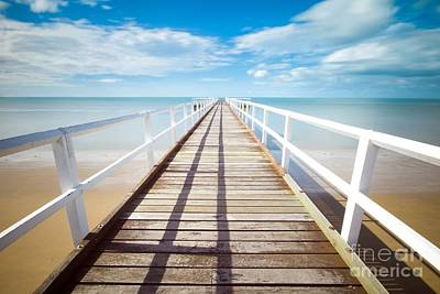 Photograph - Beach Pier 1 by Jesse Watrous