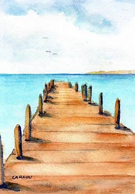 Painting - Beach Pier by Carlin Blahnik