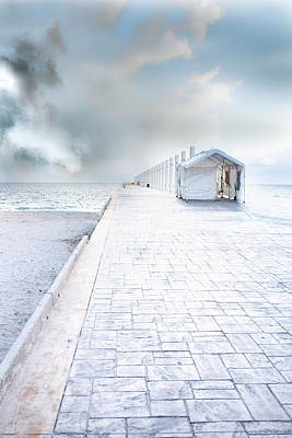 Photograph - Beach Pier by David Chasey