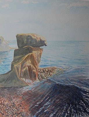 Beach Pillar  Original by Perre Kerch