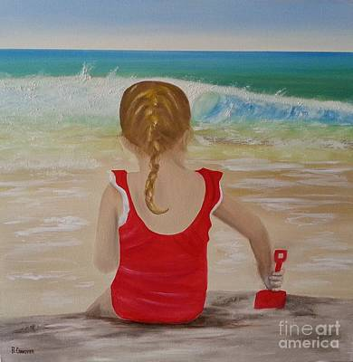 Painting - Beach Play by Bev Conover