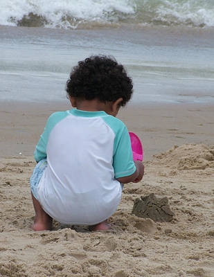 Castles In The Sand Photograph - Beach Play by Vickie Roche
