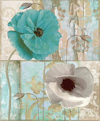 Ecru Painting - Beach Poppies II by Mindy Sommers