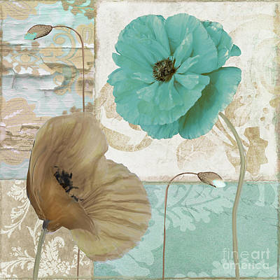 Filigree Painting - Beach Poppies IIi by Mindy Sommers