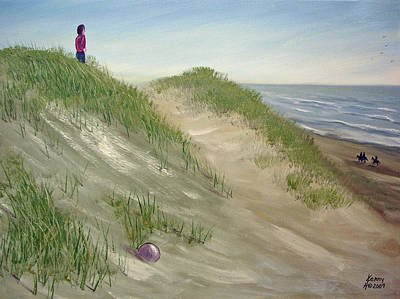 Art Print featuring the mixed media Beach Prize by Kenny Henson