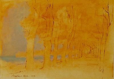 Painting - Beach Promenade I by Attila Meszlenyi