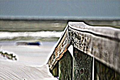 Beach Rail Art Print
