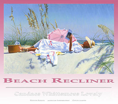 Painting - Beach Recliner Poster by Candace Lovely