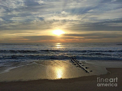 Photograph - Beach Reflections by Mary Haber