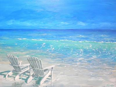 Painting - Beach Relaxation by Paul Emig