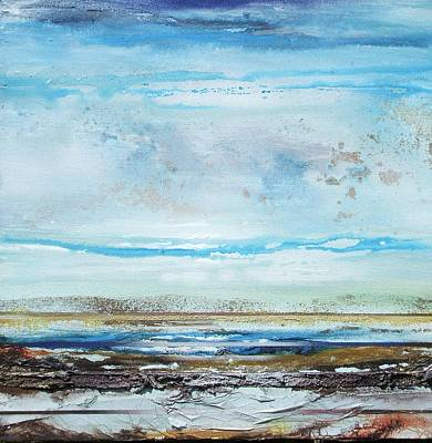 Beach Rhythms And  Textures Northumberland Art Print by Mike   Bell