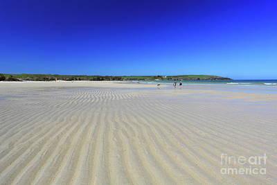 Beach Ripples At Harlyn Bay Art Print