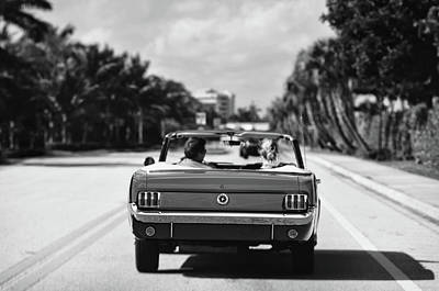 Photograph - Beach Road  - 1965 Mustang  by Laura Fasulo