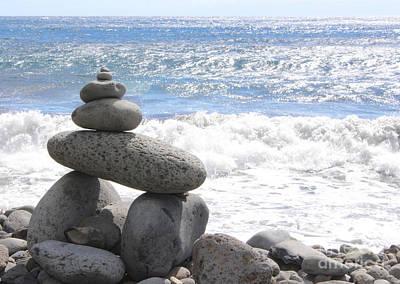 Wall Art - Photograph - Beach Rock Cairn by Elaine J Hoffman