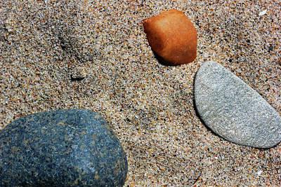 Photograph - Beach Rocks by Mary Bedy