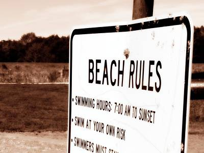 Photograph - Beach Rules After Dark by Kyle West