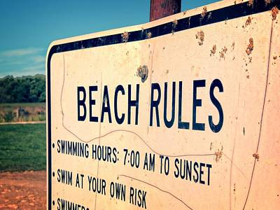 Photograph - Beach Rules by Kyle West