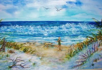 Beach Run Original by Carolyn Gray