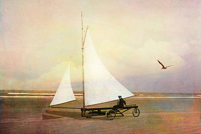 Digital Art - Beach Sailing by Sandra Selle Rodriguez