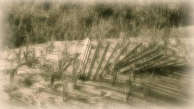 Photograph - Beach Sand Dune - Jersey Shore by Angie Tirado