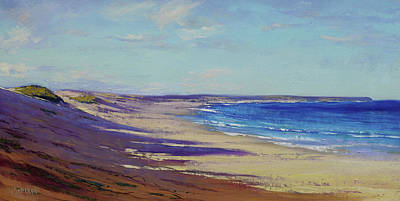 Impressionist Beach Painting - Beach Sand Shadows by Graham Gercken