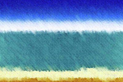 Painting - Beach Scene 3. Modern Decor Collection by Mark Lawrence