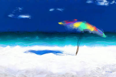 Painting - Beach Scene 4. Modern Decor Collection by Mark Lawrence