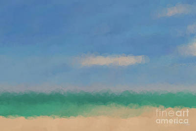 Painting - Beach Scene 6. Modern Decor Collection by Mark Lawrence