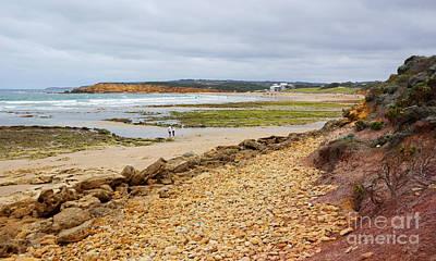 Photograph - Beach Scene At Jan Juc Victoria by Lexa Harpell