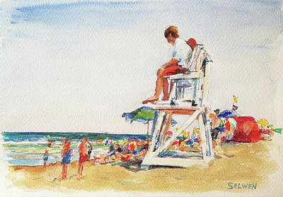 Painting - Beach Scene, Cape Cod by Peter Salwen