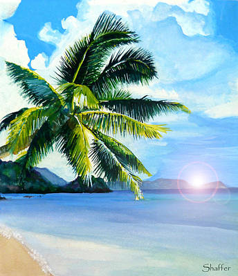 Art Print featuring the painting Beach Scene by Curtiss Shaffer