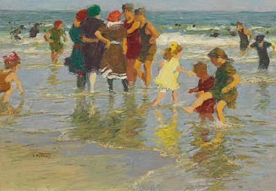 People On Beach Wall Art - Painting - Beach Scene by Edward Henry Potthast